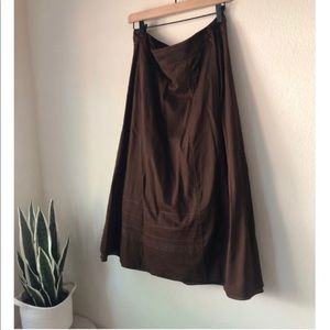 Eileen Fisher cotton boule embellished skirt